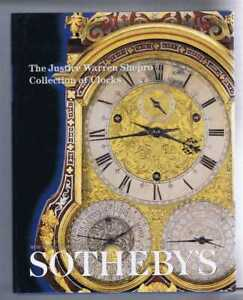 Horology: Justice Warren Shepro Collection of Clocks. Sotheby's Catalogue 2001