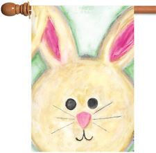 Toland Floppy Eared Bunny 28 x 40 Cute Spring Easter Rabbit House Flag
