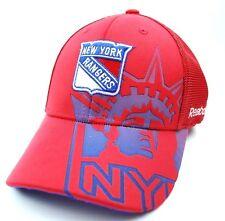 New York Rangers Reebok Tx75Z Nhl Second Season Stretch Fit Hockey Cap Hat
