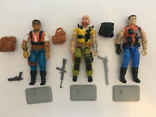 GI Joe 1987 3 SLAUGHTERS RENEGADES MERCER TAURUS RED DOG 1987 COMPLETE