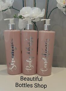 Bathroom Bottles Pink or Blue  Mrs Hinch Style Shampoo Conditioner Body Wash