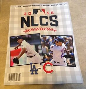 2016 NLCS National League Championship Program Cubs Dodgers NEW shipped in a box