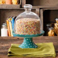 Pioneer Woman Flea Market Ceramic Mini Cupcake Cake Stand with Glass Cover