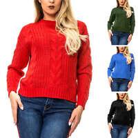 Vero Moda Damen Pullover Strickpullover mit Zopfmuster Damenpullover Pulli SALE%