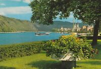 VINTAGE POSTCARD BOPPARD ON THE RHINE RIVER POSTED 1966 WITH POSTAGE DUE CANCEL
