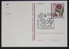 Postkarte Kugelorchis mit Ersttag WIPA Sonderstempel