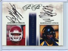 ADRIAN PETERSON, MARSHAWN LYNCH 2007 PEN PALS DUAL AUTOGRAPHS 28/30