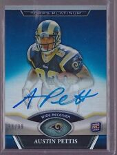 2011 Topps Platinum Blue Refractor Austin Pettis On Card Auto Rc Serial # to 99
