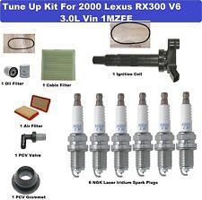 Tune Up Kit for 1999 Lexus RX300 Spark Plug, Air Cabin Oil Filter, Belt, PCV Va