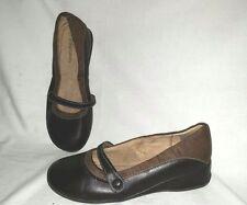 Cute 2-Tone XHILARATION Size 5 Slip-on Mary Jane Shoes Low Wedge Heel
