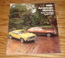 Original 1982 AMC American Motors Full Line Deluxe Sales Brochure 82 Eagle