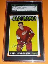 65-66 Topps #51 Paul Henderson Autograph Rookie AUTO RC SGC AUTHENTICATED L@@K