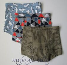 HANNA ANDERSSON Organic Training Unders Underwear Camo S 100 110 4T 4 5 NWT