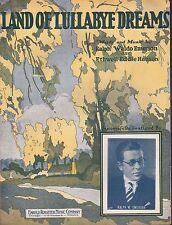 RALPH WALDO EMERSON sheet music LAND OF LULLABYE DREAMS piano, ukulele DECO 1925