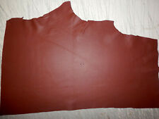 "BROWN Deer Hide Leather Remnants Scraps 9""x20"" avg 0.8mm thick #6573"