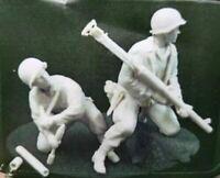 1/35 Resin Figure Model Kit US Soldiers WWII WW2 Firing Bazooka Rocket Launcher