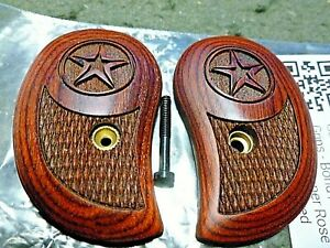 BOND ARMS DERRINGER GRIPS IN ROSEWOOD CHECKERED WITH STAR