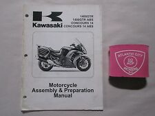 2010 KAWASAKI 1400GTR ABS CONCOURS 14 ABS MOTORCYCLE ASSEMBLY & PREP  MANUAL