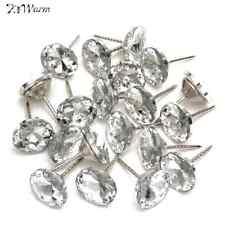 20pcs Crystal Upholstery Nails Tacks Studs Pins 25mm Dia Sofa Wall Decoration