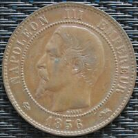 FRANCE 10 CENTIMES NAPOLÉON III 1856 D   F.133