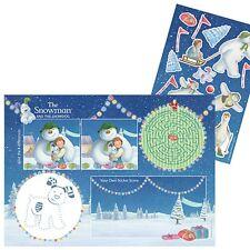 Tavola di Natale-Pupazzo di Neve & Snowdog attività tovagliette con adesivi