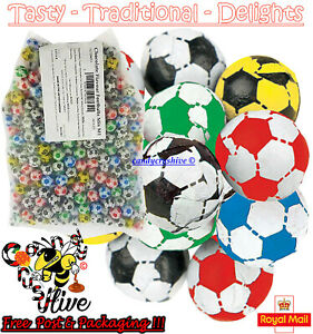 1 - 1000 New Milk Chocolate Footballs Wholesale Pick N Mix Retro Sweets Candy