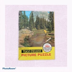 """Vtg TUCO Deluxe Picture Jigsaw Puzzle Tripl-thick """"Pywaick Dome, Yosemite, Ca"""""""