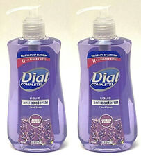 2 DIAL COMPLETE HAND SOAP LIQUID WASH LAVENDER & JASMINE ANTIBAC 11 OZ NEW