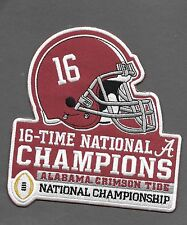 New Alabama Crimson Tide 2016 16 Time Champions Iron on Patch Free Shipping