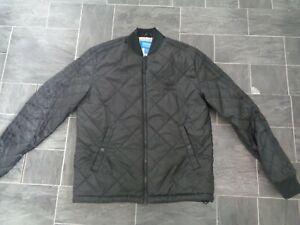 mens adidas coat size medium-black quilted- autumn/winter