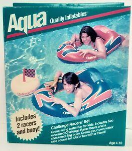 Aqua Quality Inflatables Challenge Racers Set Vintage 1994 NOS Aqua Leisure 121