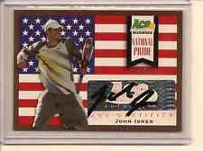 JOHN ISNER 2013 ACE AUTHENTIC GRAND SLAM NATIONAL PRIDE AUTO /50
