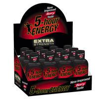 5-Hour Energy Shot, Extra Strength, Berry, 1.93 oz, 12 ct