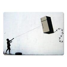 "Banksy Art Fridge Kite Mini 5"" x 7"" Metal Sign"