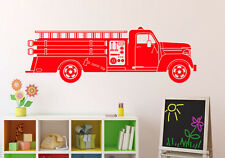 Fire Truck Wall Decal Firefighter Vinyl Sticker Home Kids Room Art Decor 19(nse)