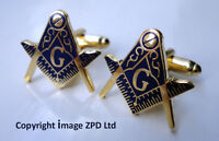 ZP257 Freemason Masonic Masons Cufflinks Geometry Square Compass with G