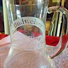Bell shaped Budweiser Clydesdales Etched glass, stein mug,
