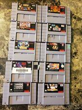 10 Super Nintendo SNES Games Street Fighter Robocop Vs Terminator Doom Troopers