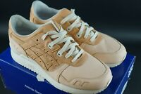 ASICS GEL LYTE III VEG TAN PACK LEATHER SHOES TRAINERS SIZE UK 7 EU 41.5 OG DS