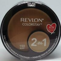 Revlon ColorStay 2-in-1 Compact Makeup & Concealer 150 Buff .38 oz