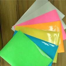 A4 sheet Glow In The Dark Heat Transfer Vinyl Iron-on Fabric Press Cutter Film