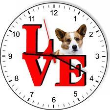 Cardigan Welsh Corgi Park Cute Puppy Dog kitchen living room Wall Clock