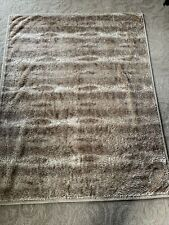 Pottery Barn Faux Fur Throw - Brown, Beige & Tan Ombre' - 50� X 60� Pre-Owned