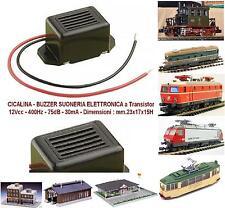 KATO BUZZER SUONERIA CICALINA ELETTRONICA 12V 400Hz - 75dB - 30mA mm.23x17x15H