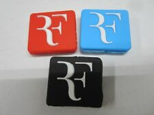 "*NEW* LOT OF 3 ""RF"" ROGER FEDERER SILICONE VIBRATION DAMPENERS TENNIS RACQUETS"