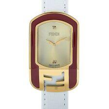 Fendi Chameleon Gold-Tone Red Enamel Quartz Watch F317435041D1