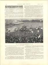 1897 il Benin massacro schizzo arrivo dell' onorevole Rodi al capo