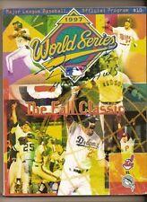 1997 World Sreies Program Signed by Livan Hernandez MVP