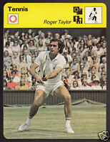 ROGER TAYLOR American Tennis Player Photo 1979 SPORTSCASTER CARD 63-14
