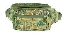 Camo Fanny Pack 6 Pocket Water Repellent Travel Waist Belt Bag Cell Phone Holder